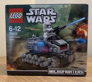 Lego Star Wars Microfighters 75028 Clone Turbo Tank. Retired Set. NEW Sealed Box