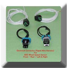 Set 4 Electrical Connector of ALS1464/ALS1465 ABS Wheel Seep Sensor Front Rear