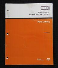 Original Case N63 P63 T63 Mini Sneaker Trencher Parts Catalog Manual Nice