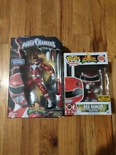 NEW Power Rangers Metallic Legacy figure and Funko POP Red Ranger