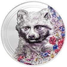 Mongolei 2020 - Woodland Spirits - Waschbär (3.) - High Relief - 1 Oz Silber PP