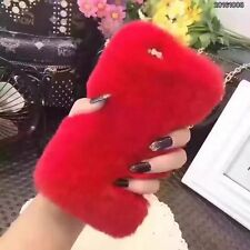 Fluffy Fur Plush 8 Colors Soft TPU Winter Warm Bling Skin Cover Case For Phones