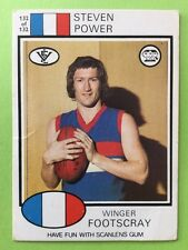 Scanlens 1975 VFL Trading Card 132 Steven Power Footscray Bulldogs