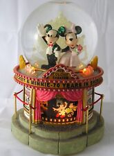 Disney Mickey & Minnie Lighted Musical Snowglobe 70 Year Anniversary In Show Biz