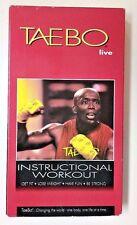 TaeBo Live! (1999 VHS Playtested UPC# 664221228430 Fitness Workout) Billy Blanks