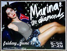 MARINA AND THE DIAMONDS 2011 Gig POSTER Washington DC Concert