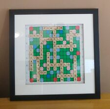 Framed Liverpool FC Scrabble Art Display: Shankly / Paisley / Dalglish / Gerrard