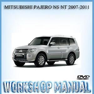 MITSUBISHI PAJERO NS NT 2007-2011 WORKSHOP REPAIR SERVICE MANUAL IN DISC