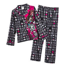 Monster High Letter Pattern 2-pc. Pajama Set-  Size Small (6/6X) NWT Girls