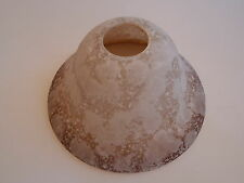 """Frosted Brown White Globe Glass Lamp Fixture Light Shade 7-3/8"""" W x 4"""" H"""