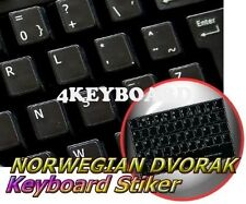 NORWEGIAN DVORAK NON-TRANSPARENT KEYBOARD STICKER BLACK