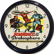 """Zombies of the Stratosphere Movie Poster Wall Clock Walking Dead Apocalypse 10"""""""