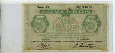 Netherlands 5 Gulden 1944 Zilverbon / Silver Note P63 #4675