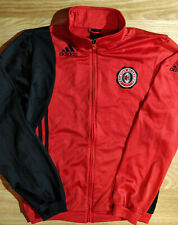 Adidas AC Milan Academy Mens Tracksuit Top Jacket Football Soccer Italy Red