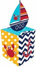 Ahoy Matey Sailboat Ocean Animals Cute Baby Shower Party Favor Gift Boxes