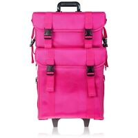 SHANY Soft Makeup Artist Rolling Trolley Cosmetic Case with Free Set of Mesh Bag