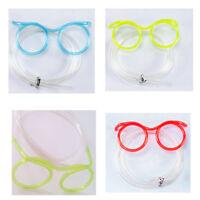 Creative  Funny Drink Straws Party Cartoon Children DIY Crazy Straw Glasses Tube