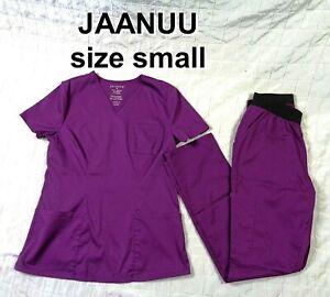 jaanuu scrubs set Women's Size SMALL - Elastic Waist - Purple ~ BARELY USED COND