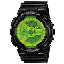 CASIO G-Shock G Shock Hypercolor Green Dial GA-110B-1A3 Neu & Ovp - B Schwarz