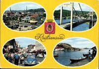 Postkarte Ansichtskarte Ak Pk gelaufen farbig Kristiansand S. Norway Norwegen