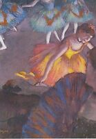 RARE EDGAR DEGAS Ballet performance ballerinas Russian modern postcard