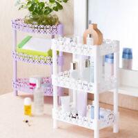 3-layer Plastic Shelf Storage Multilayer Kitchen Bathroom Rack Holder Organizer