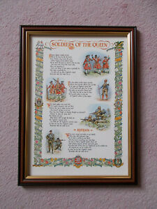 SOLDIERS OF THE QUEEN PRINT FRAMED