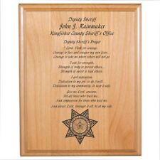 Personalized Engraved // 8x10 // Police Officer // Prayer Plaque // Sheriff