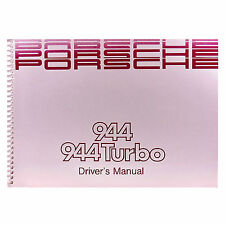 PORSCHE 944 Turbo Driver's Manual - English, MJ 1989, Betriebsanleitung, SM17