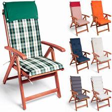 6x Cojines con repaldo para sillas de jardín juego de almohadillas acolchadas