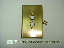 3 VINTAGE ANTIQUE HEAVY GAUGE SOLID BRASS SINGLE SWITCH TOGGLE PLATE COVERS