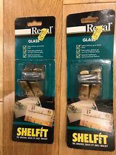 2 x SHELFIT GLASS The Original Quick-fit Shelf Bracket By Regal