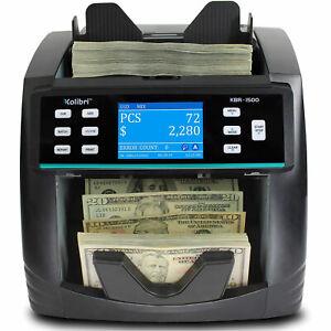 Kolibri Bank Grade Counterfeit Detector North American Cash Money Bill Counter