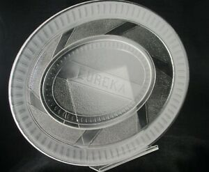 1870S EUREKA EAPG BREAD PLATTER CLEAR PRESSED GLASS RIPLEY 11.5 INCHES LONG