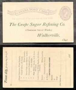 030- WALKERVILLE Ontario 1880s Postcard The Grape Sugar Refining Co Order Format