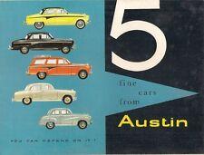 Austin 1957-58 UK Market Sales Brochure A35 A55 Cambridge A95 A105 Westminster
