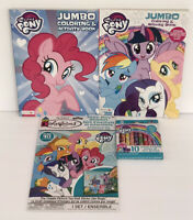 4 My Little Pony Gift Set Jumbo Coloring & Activity Books Crayons Sticker Story