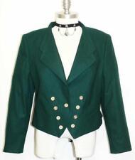 "GREEN LODEN WOOL JACKET Coat German Hunting Women Fitted Short Dress 8 10 M B40"""