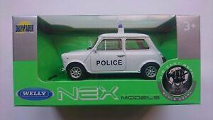 WELLY MINI COOPER 1300 POLICE 1:43 DIE CAST METAL MODEL NEW