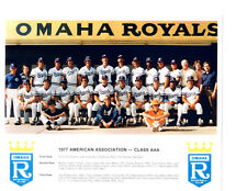 1977 OMAHA ROYALS 8X10 TEAM PHOTO KANSAS CITY NEBRASKA BASEBALL HURDLE WILSON
