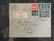 1937 Castres France cover to montreal Canada