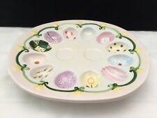 Ceramic Easter Devilled egg serving tray plate platter holds 12 & S & P (L96)