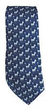 Sero New England 100% Silk Democrat Political Donkey Necktie