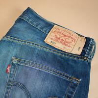 Vintage Levi 501 Jeans Blue Straight Button Fly Unisex (PatchW34L32) W 34 L 31