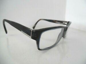 Prada Marbled Blue/Black & Brown Rectangular Eye Glasses VPR 06O  55 17 145