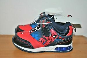 Marvel Spider-Man Boys' Red & Blue Light-Up Sneakers - Size 8