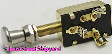 Marine Boat 3 Position Push Pull Panel Switch Off-On-On Screw Terminals 11911