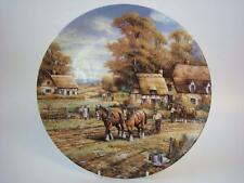 WEDGWOOD BRADEX FOUR SEASONS AUTUMN PLOUGHING LARGE  PLATE