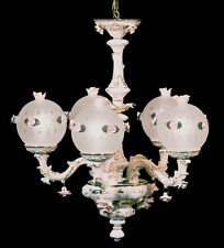 Capodimonte Made in Italy Chandelier 5 Arms White & Gold Finish(New)