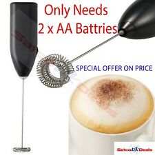 MILK FROTHER Black Coffee Latte Hot Chocolate Whisk Frothy Blend Whisker IKEA UK